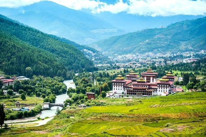 This is a Buddhist kingdom in the Himalayas. Monasteries, fortresses, subtropical plains, steep moun... - Shutterstock