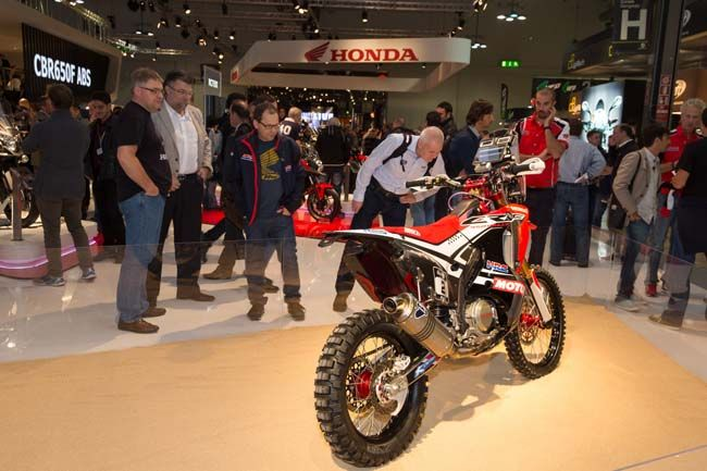 HONDA 450 RALLY MACHINE AT EICMA SHOW EICMA   News   Dirt Bike Magazine