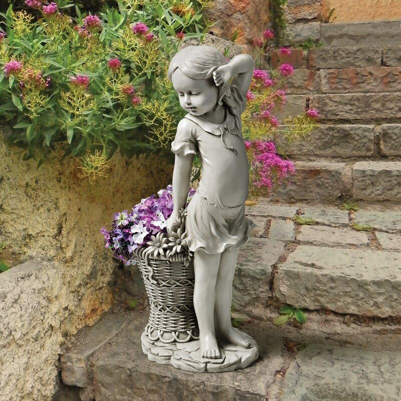 Frances The Flower Girl Statue Garden, Flower Garden Statues