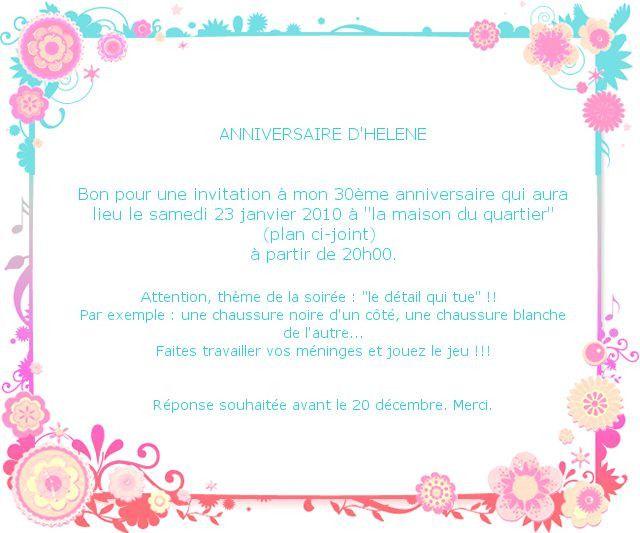 modele carton invitation anniversaire