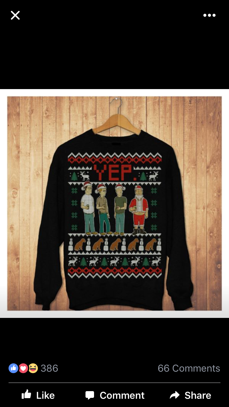 King Of The Hill Alley Crew Christmas Sweater I Like To Tv Pinterest