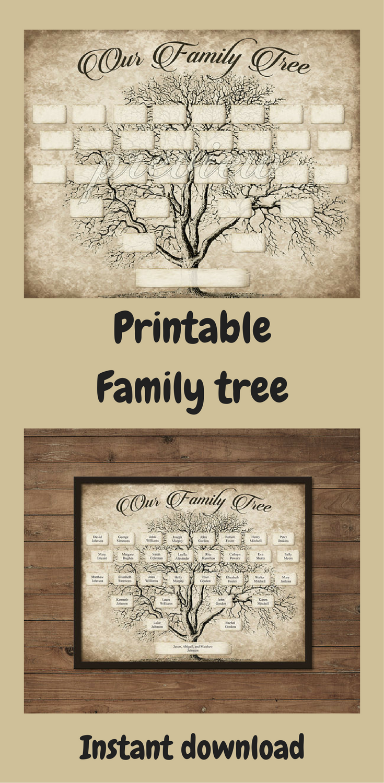 custom family tree printable 5 generation template