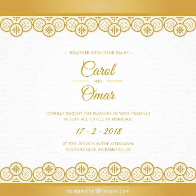Download Golden Wedding Card For Free Wedding Cards Wedding Invitation Card Design Wedding Invitation Card Template