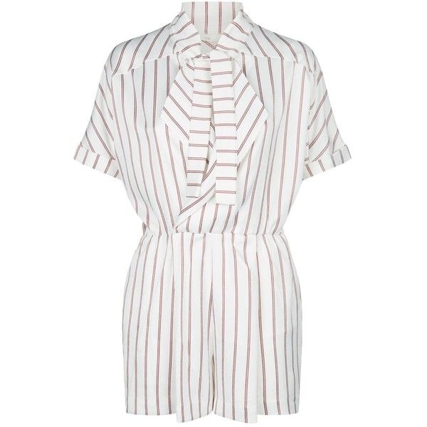 1ab06defe47e Maje Striped Playsuit (380 CAD) ❤ liked on Polyvore featuring jumpsuits