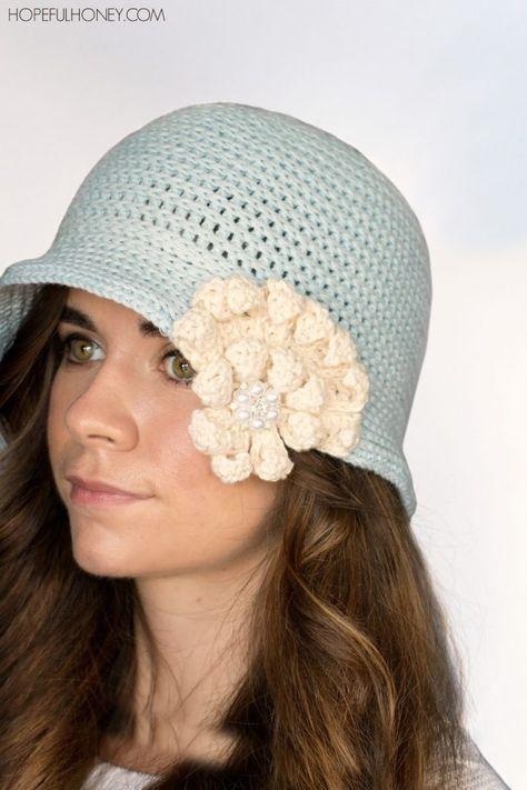 1920 s Snowflake Cloche Hat Crochet Pattern  ec701f9d315