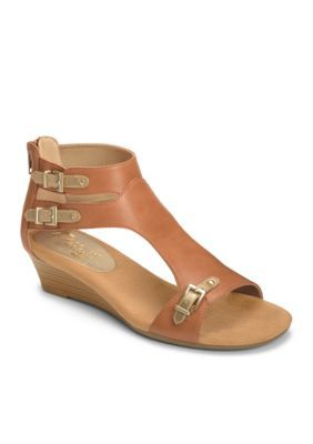 a10d14fefb39 AEROSOLES Dark Tan Yet Another Sandal