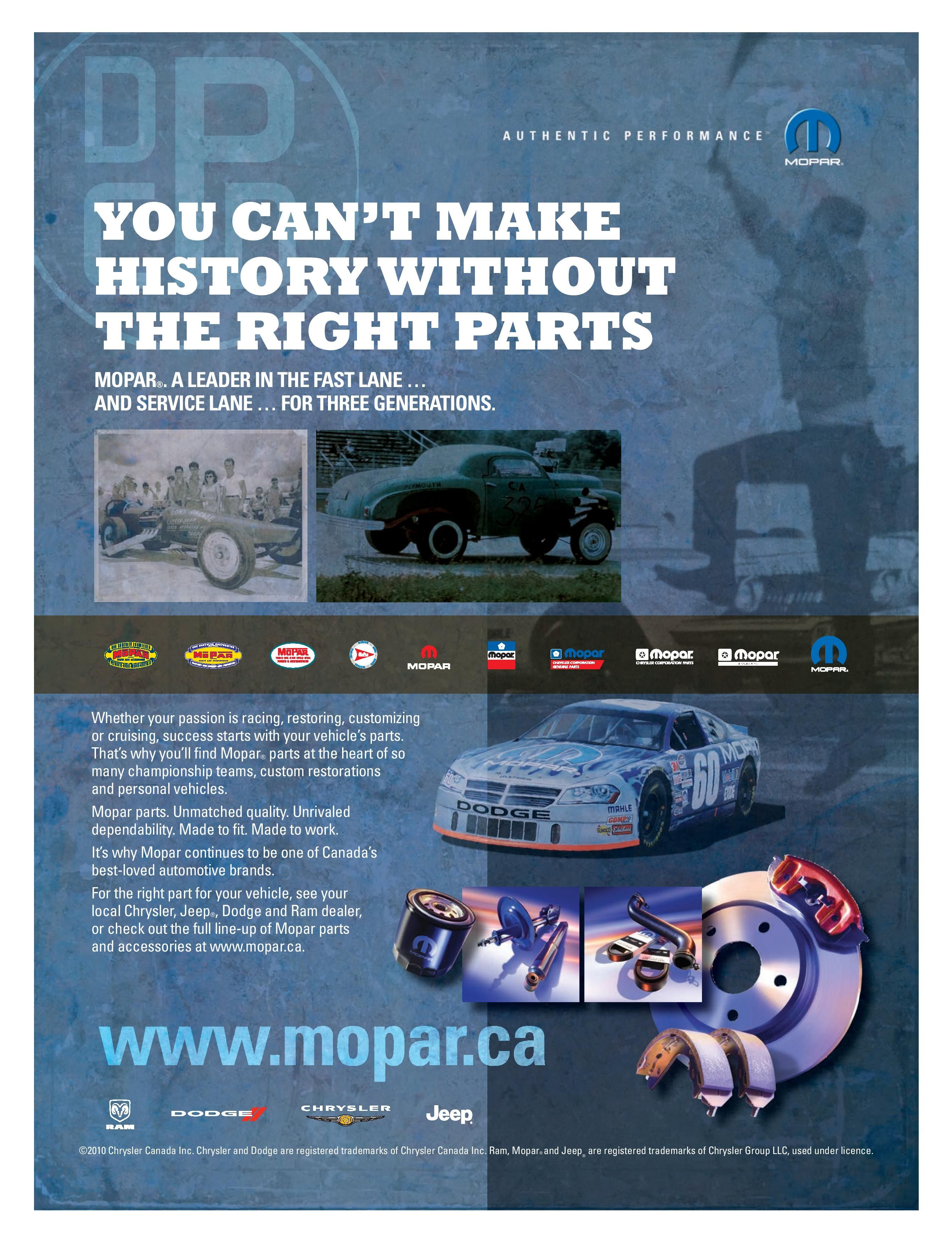 You Cant Make History Without The Right Parts Mopar Jeep Factory Catalog