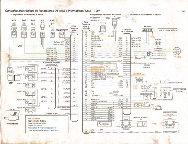 Diagrama Navistar Dt466 Diagrama De Circuito Electrico Diagrama De Circuito Simbolos De Electricidad
