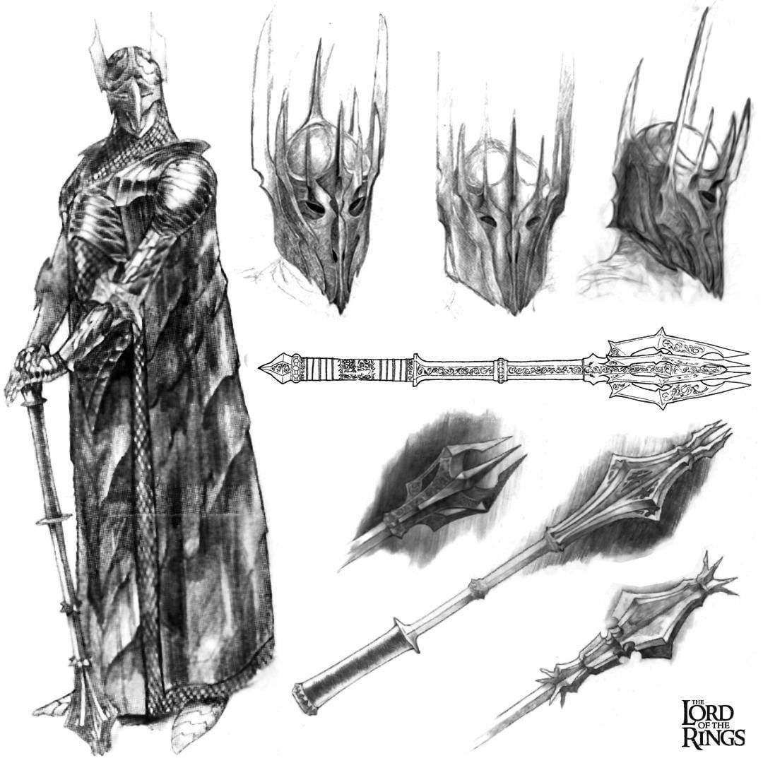 Concept Art For Sauron From The Fellowship Of The Ring 2001