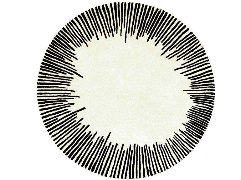 tapis ronde en laine equinoxe by roche bobois design. Black Bedroom Furniture Sets. Home Design Ideas