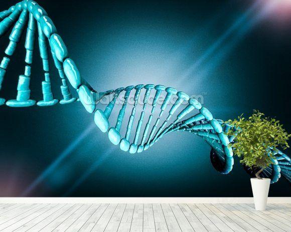 Digital illustration of a DNA model. 3D rendering ...