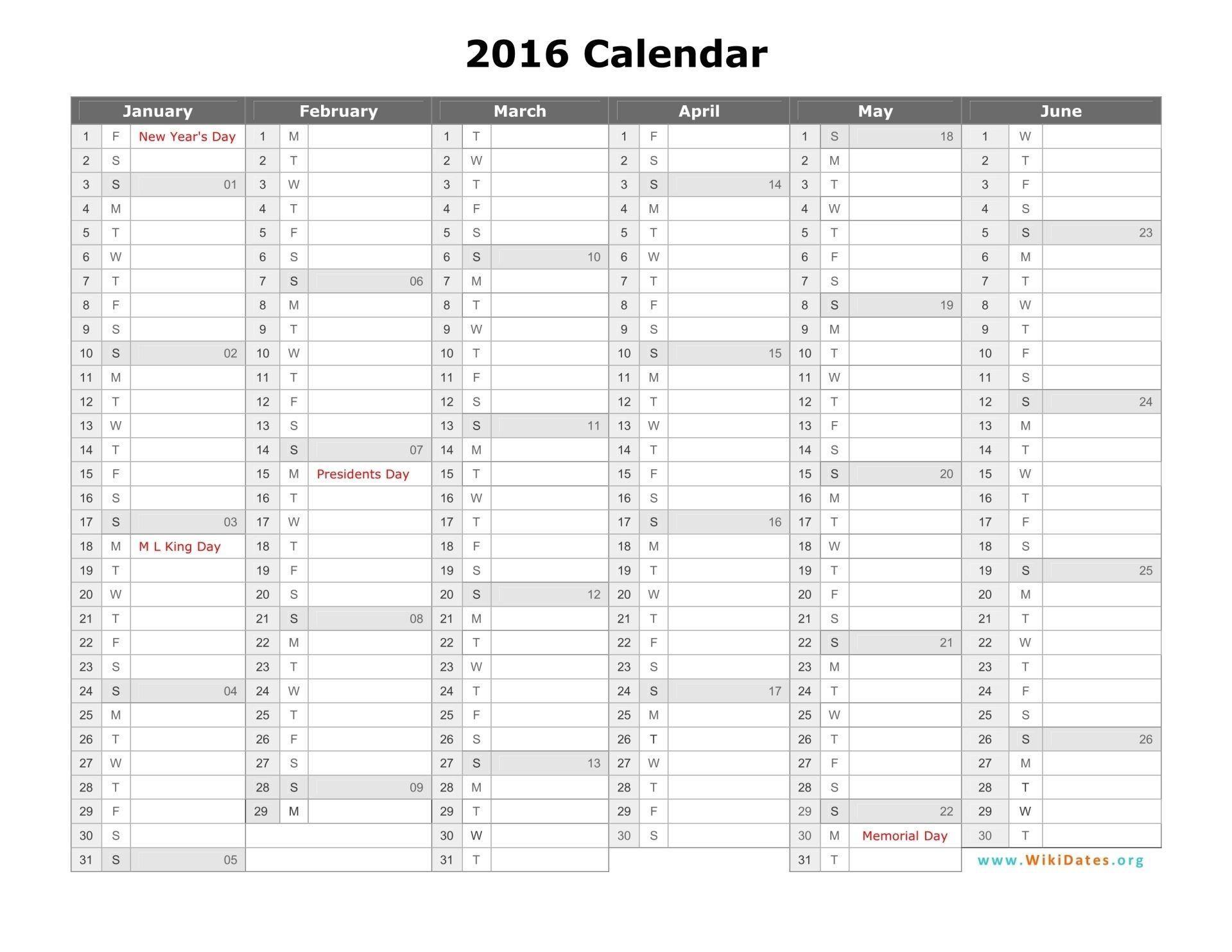 2016 calendar template 09 Annual calendar printable