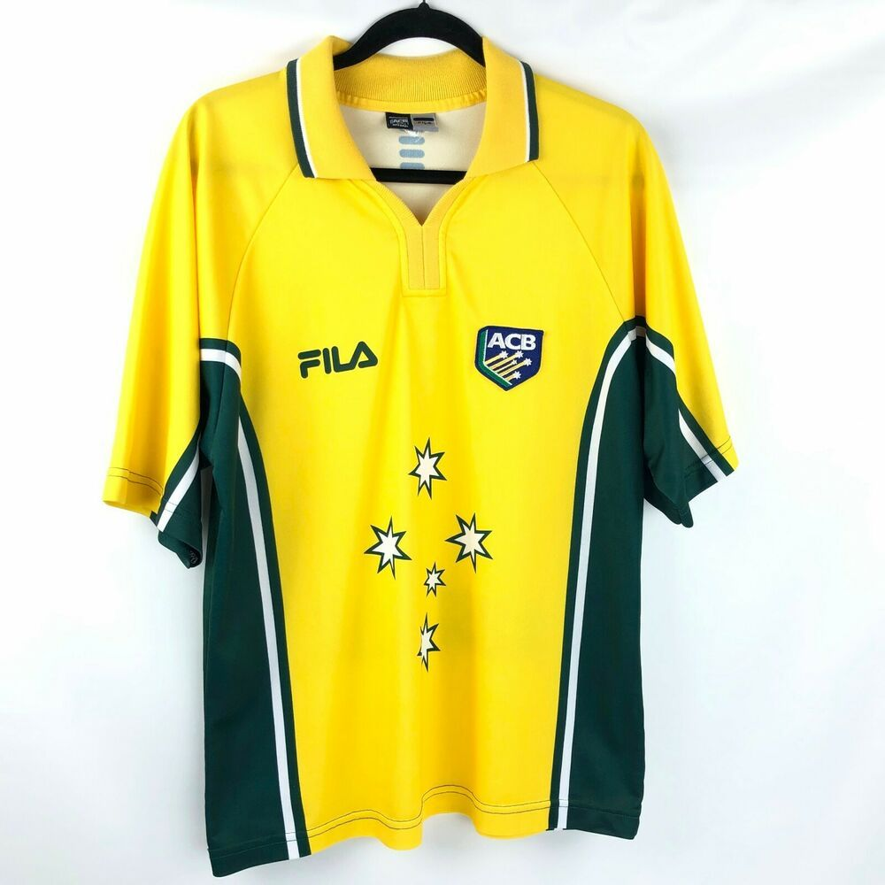 Details about FILA Cricket Jersey ACB Australia Shirt Mens