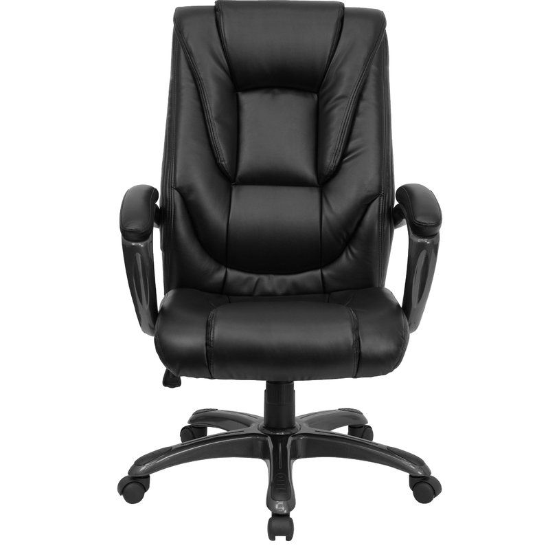Brookline Task Chair Bonded Leather Chair Leather Chair Black