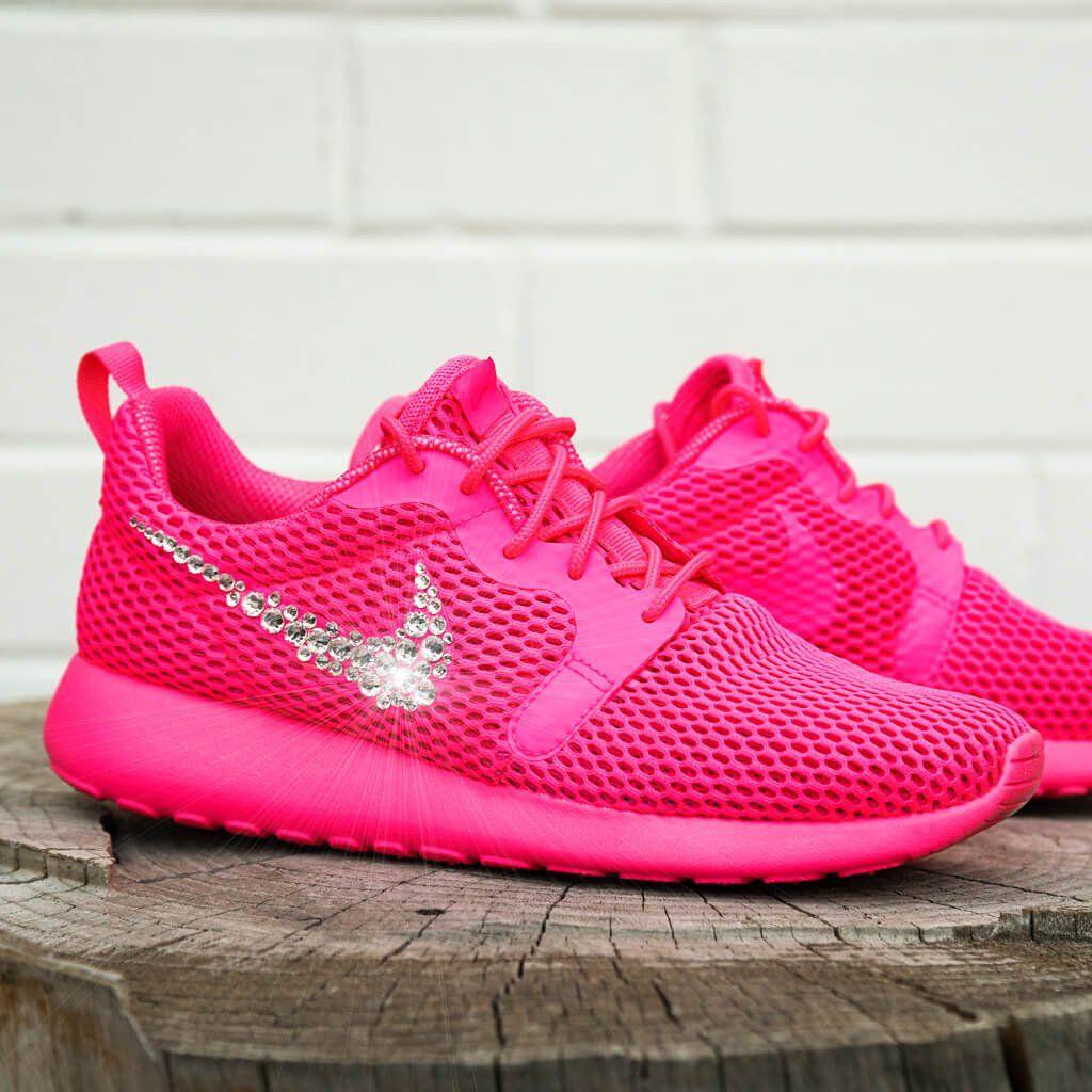 Sneaker * Nike Roshe * Glitzer * Swarovski * pink * Carrie ...
