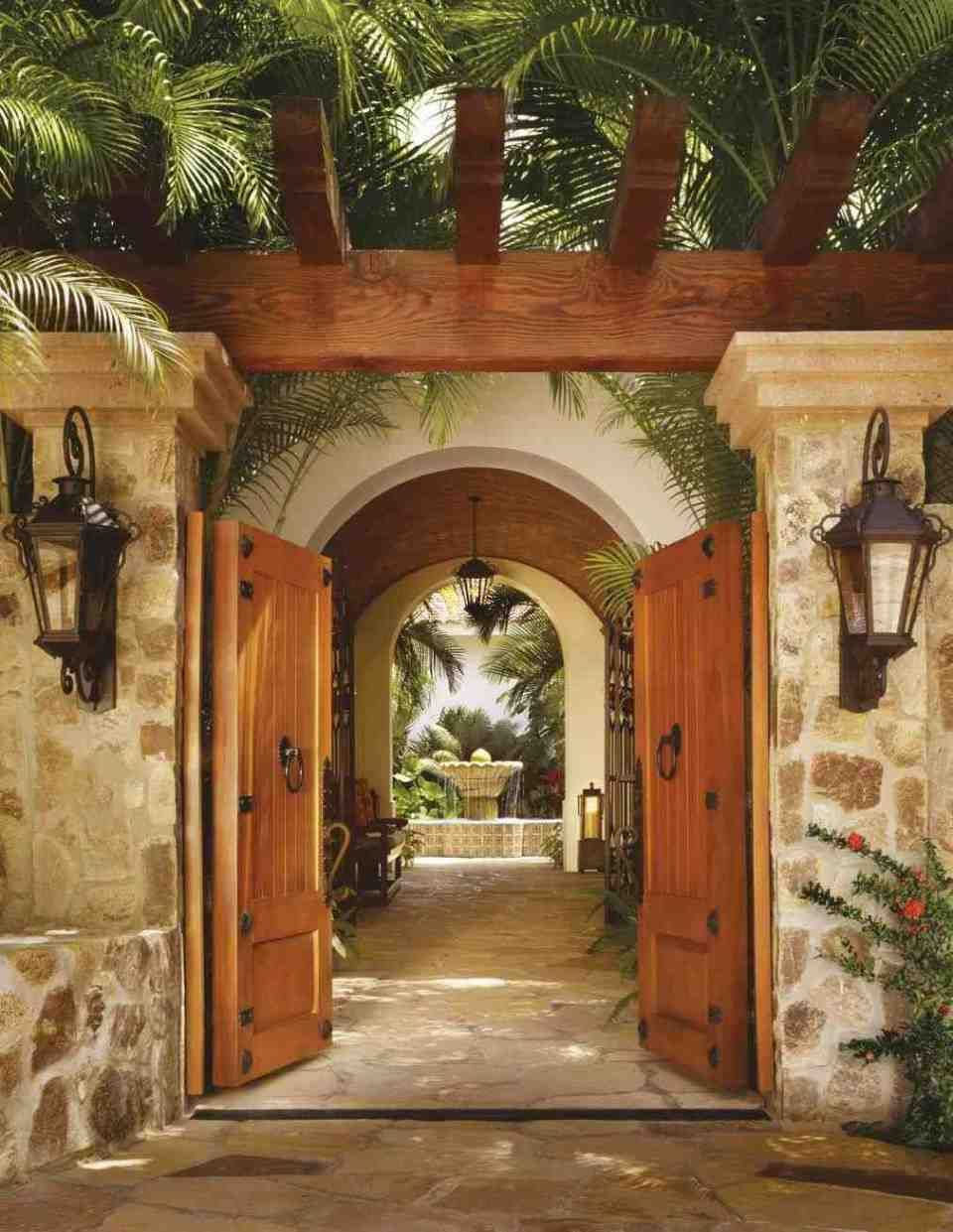 Mexican Hacienda Courtyard In 2018 Garden Design Ideas