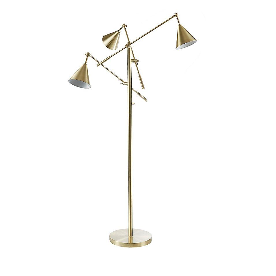 Ink Ivy Sullivan 3 Light Floor Lamp In Gold Floor Lights Floor Lamp Lamp