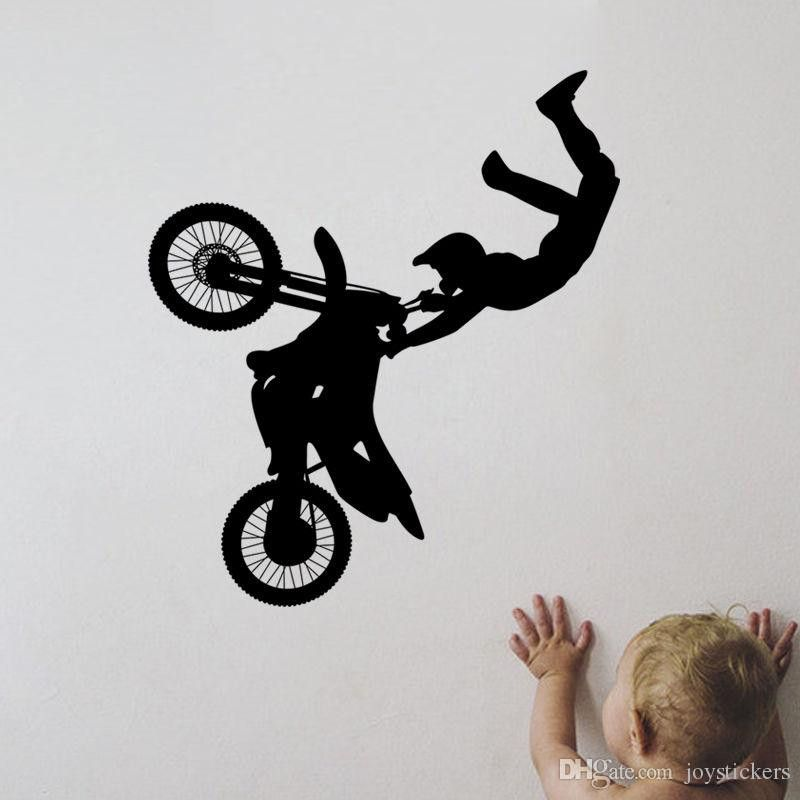 Dirt Bike Bedroom Decor Inspirational Tribal Bike Motorcycle Vinyl Removable Wall Stickers Sport Black Wall Decor Wall Decals For Bedroom Kids Room Wall Decals