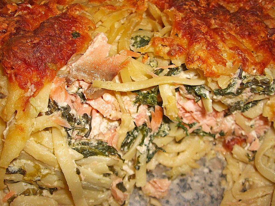 Lachs - Spinat - Lasagne #spinatlasagne