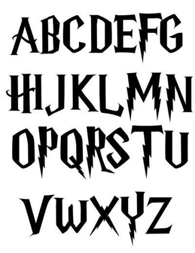 Best Harry Potter Fonts | Design | Harry potter font, Harry potter ...