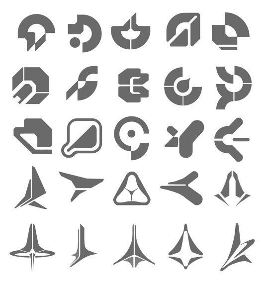 SciFi logo | Sci fiction hexagon grid based logos | Zly Ojciec ...