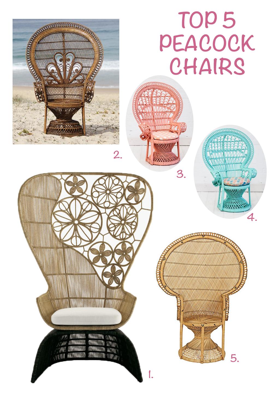 boho essentials: peacock chair - l' essenziale | cool things i
