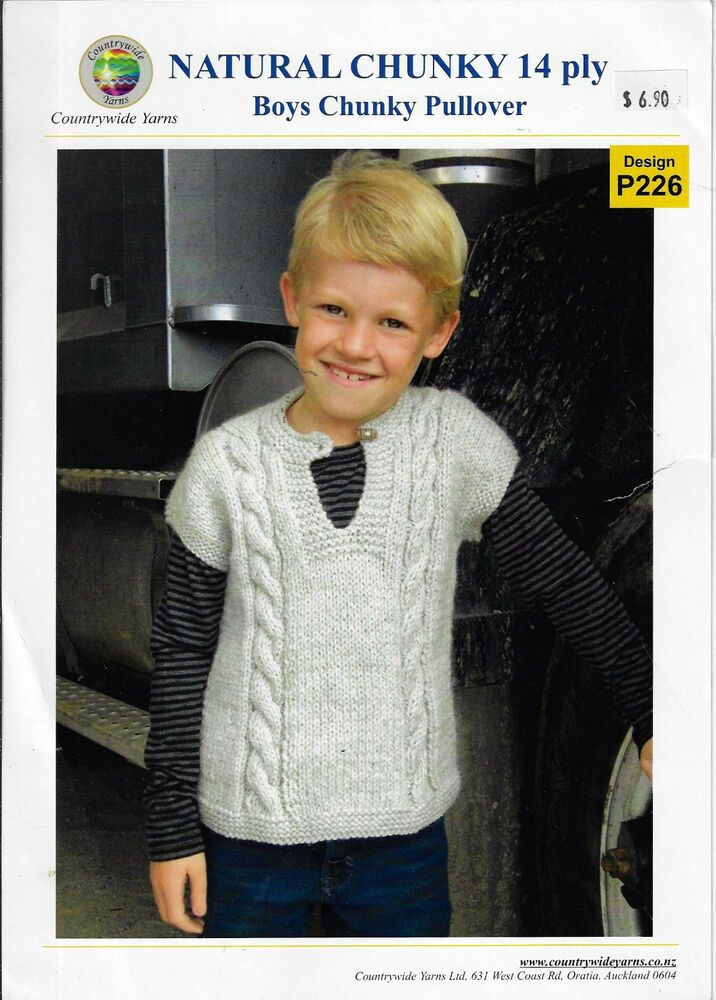 cc3c67577 Details about Child s Sleeveless Vest Countrywide   P226 knitting ...