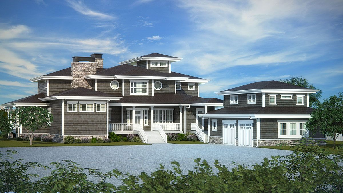 Plan 95035RW Exciting Shingle Style House Plan