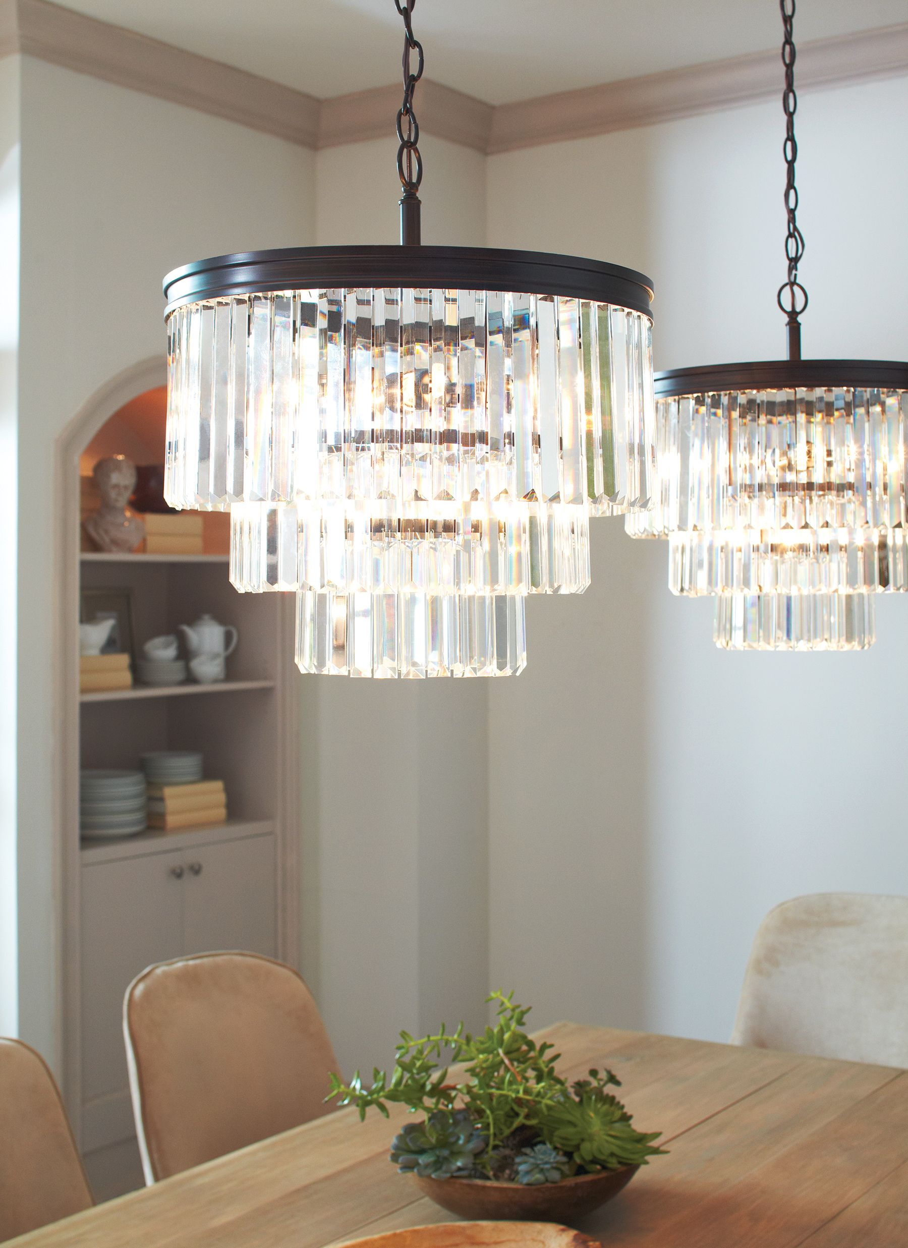 Try Adding 2 Chandeliers Over A Table Rather Than 1 Large Fixture