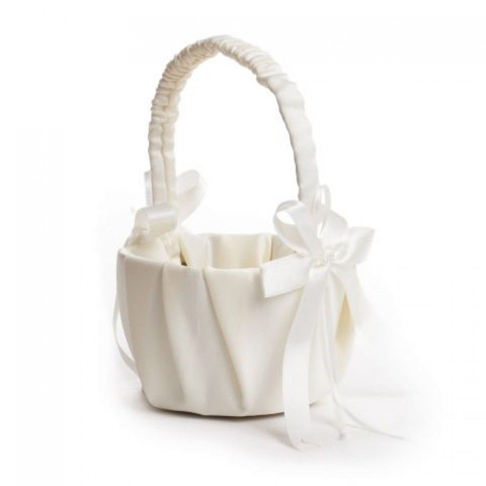 Satin Flower Girl Basket (2 Colors Available) BEST SELLER! [N4083 ...