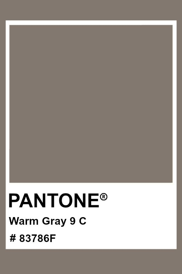 pantone warm gray 9 c color pms hex em 2020 paleta de cores cinza cor 2161c black 5c