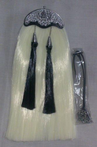 Brand New Long Hair Sporran with Heavy Brass Cantel Free Leather Belt | eBay