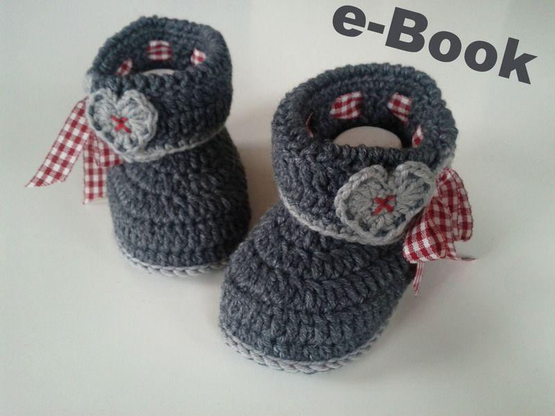 Häkelanleitung Baby-Trachtenschühchen/e-Book PDF | Crochet, Babies ...