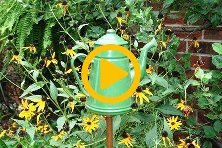Garden Decor with Tea Pot Garden Decor with Tea Pot