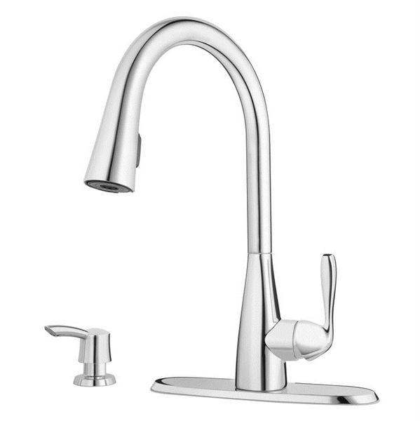 Pfister Lima 1 Handle Pull Down Traditional Kitchen Faucet