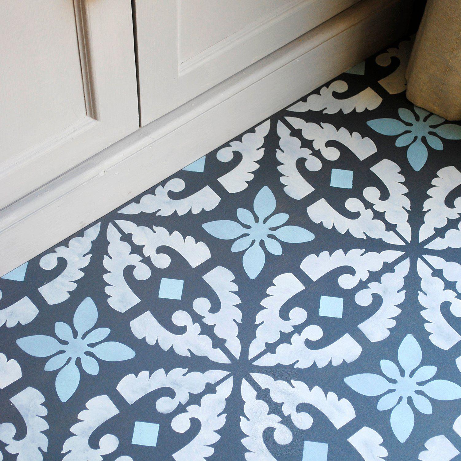 Large Cordoba Floor Stencil   Pinterest   Laminate flooring ...