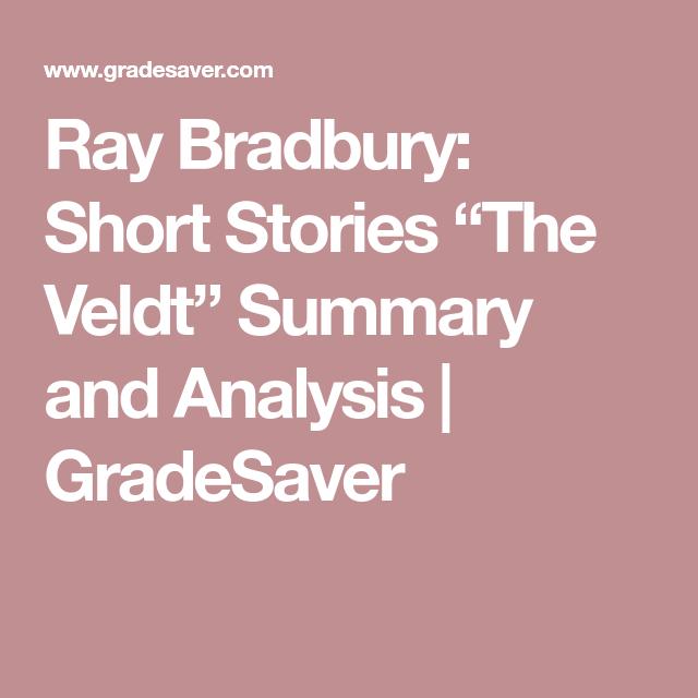 ray bradbury short stories the veldt