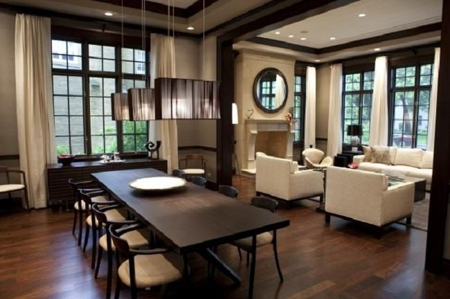 Interior Design Dining Room High End Contemporary Homes Home Decor