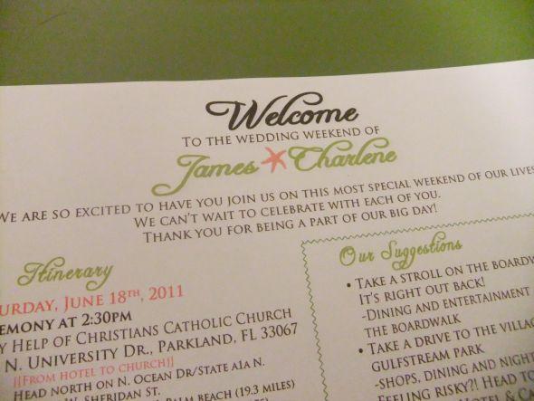 Welcome Letter Wedding Map Dscf0250