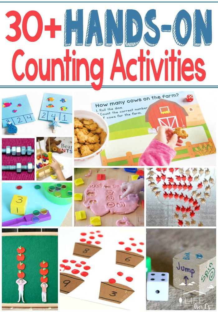 30+ HandsOn Counting Activities for Kids Counting