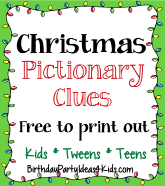 Christmas Pictionary Game | 50 Free Clues