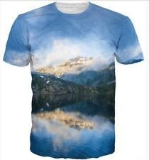 Hiphop Fashion Mountain 3D Cool Style Mens T-shirt Casual Top Tee Asian Size XL
