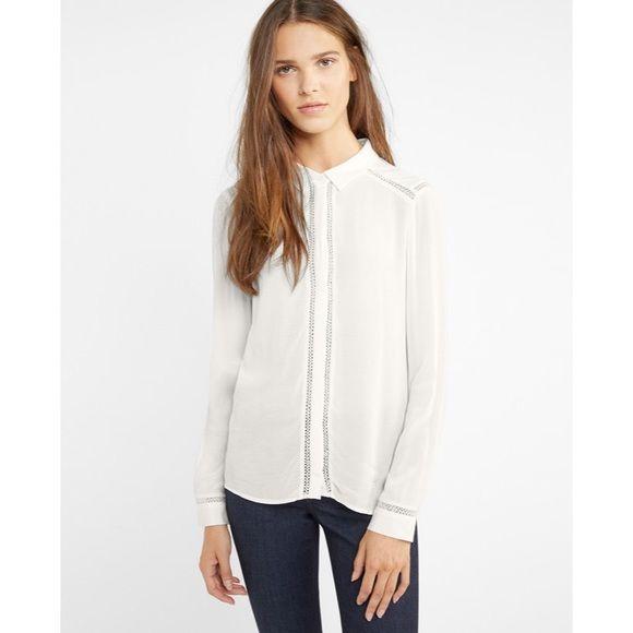 Comptoir Des Cotonnier Lace Inlay Shirt NWT