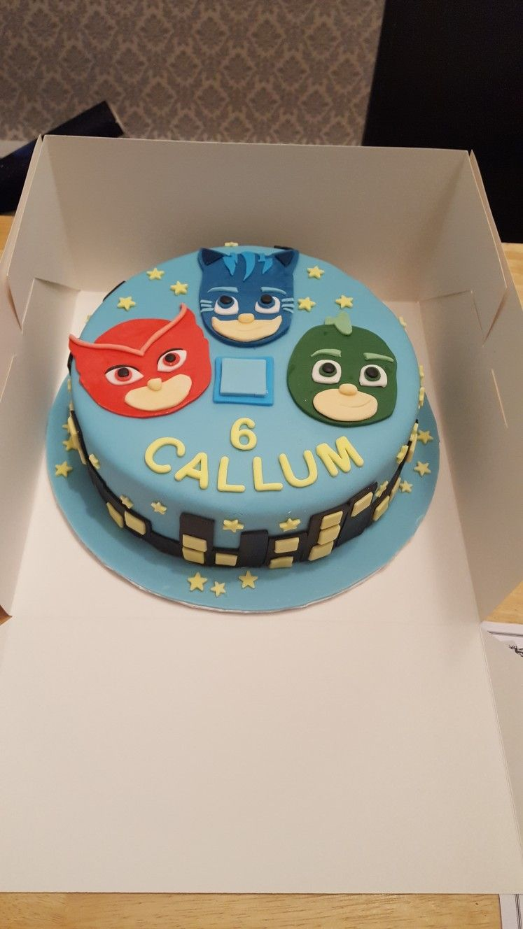 Pj Mask Cake For A 6th Birthday Party