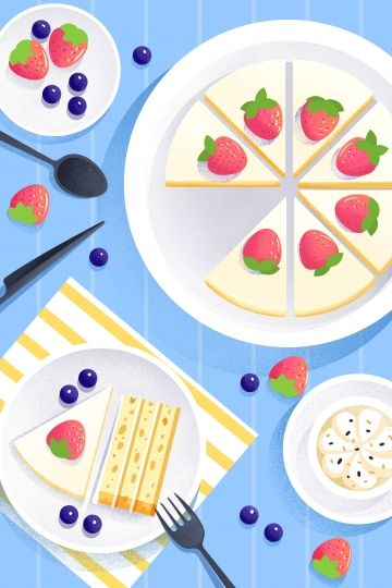 Food Illustration Hand Painted Food, Western Style, Dessert, Cake Illustration Image on Pngtree, Free Download on Pngtree -   15 cake Illustration illustrators ideas