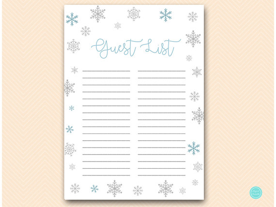 gift list bridal shower gift list baby shower gift list guest list printable gift checklist gif