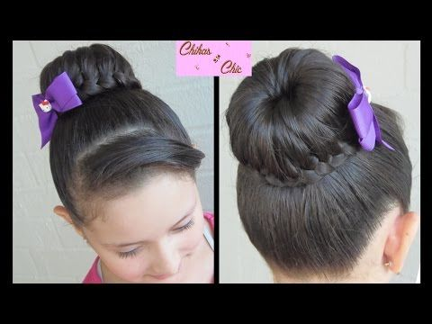 Dona / Recogido Trenzado! - Braided Bun! | Chikas Chic - YouTube