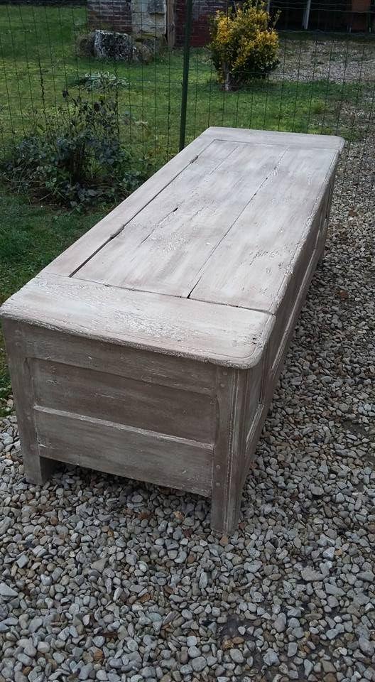maie coffre ancien ch ne massif relook patine bronze les patines d 39 agathe le bois d. Black Bedroom Furniture Sets. Home Design Ideas