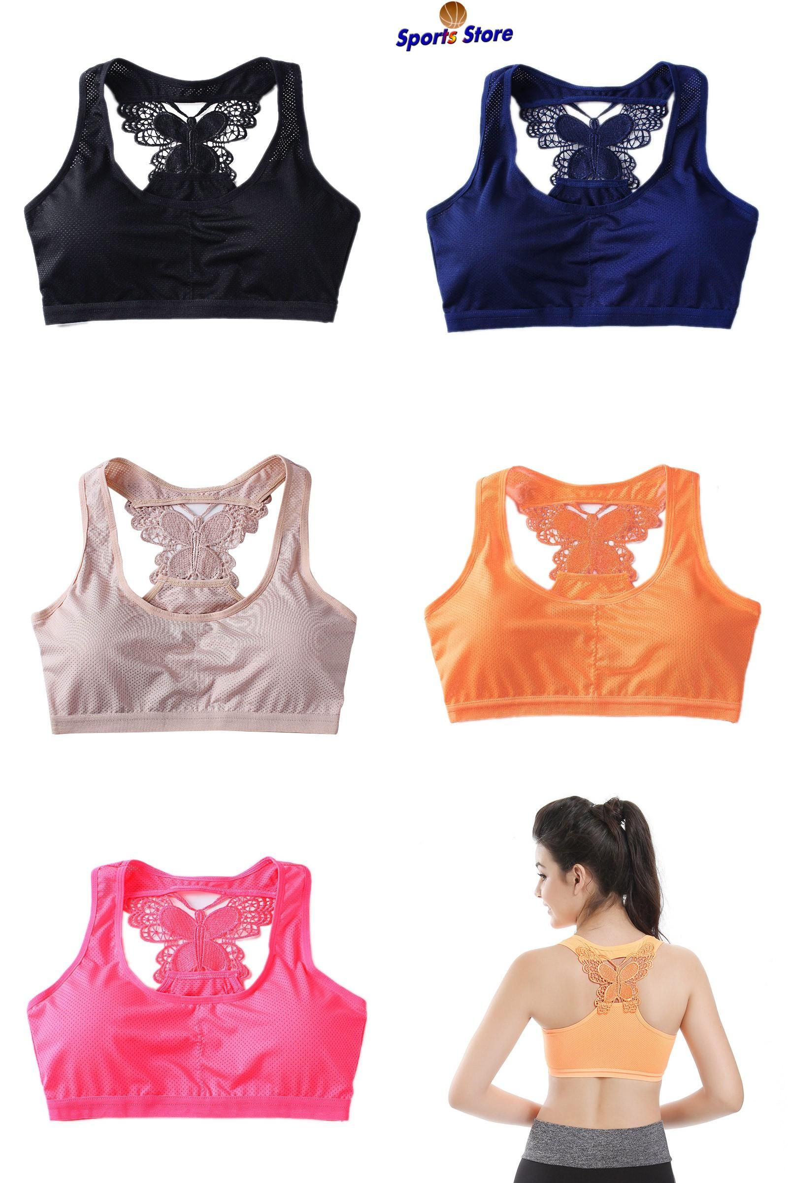 4a47c8e34f  Visit to Buy  Women Yoga Sports Quick Dry Seamless Fitness Padded Bra  Butterfly Back