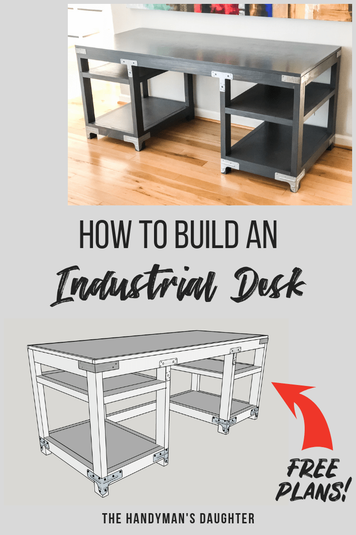 diy industrial computer desk plans and tutorial | it comes from